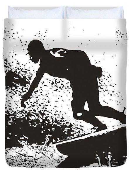 The Surfer Duvet Cover by Brian Roscorla