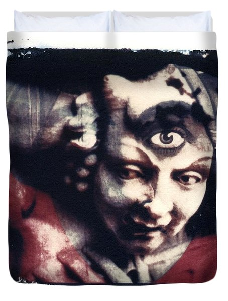The Third Eye Polaroid transfer Duvet Cover by Jane Linders