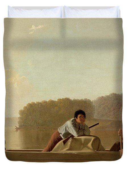 The Trapper's Return Duvet Cover by George Caleb Bingham