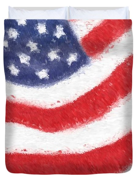 The United States Flag Duvet Cover by Heidi Smith