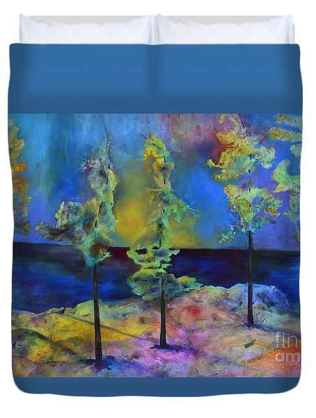 The View Duvet Cover by Claire Bull