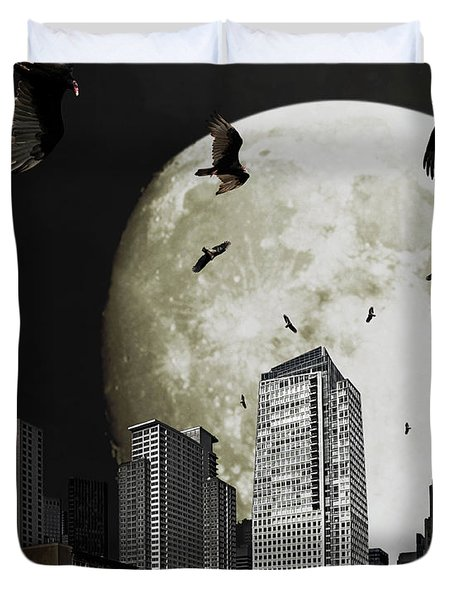 The Vultures Have Emerged From My Dreams Duvet Cover by Wingsdomain Art and Photography