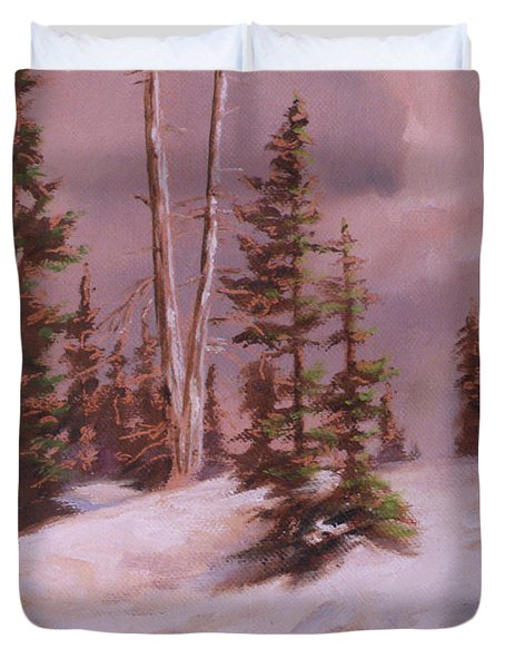 The Wasatch Divide Plein Air Duvet Cover by Mia DeLode