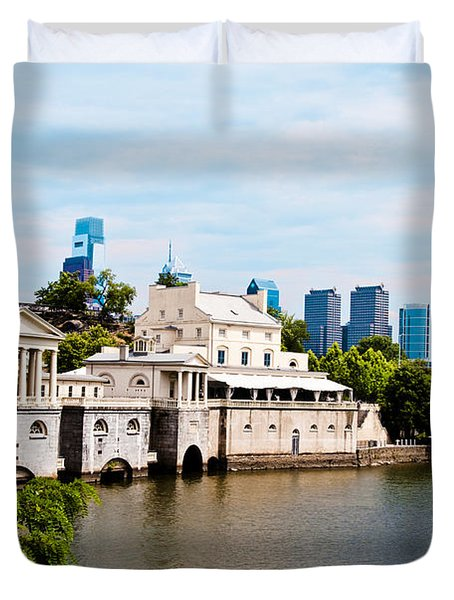 The WaterWorks in Spring Duvet Cover by Bill Cannon