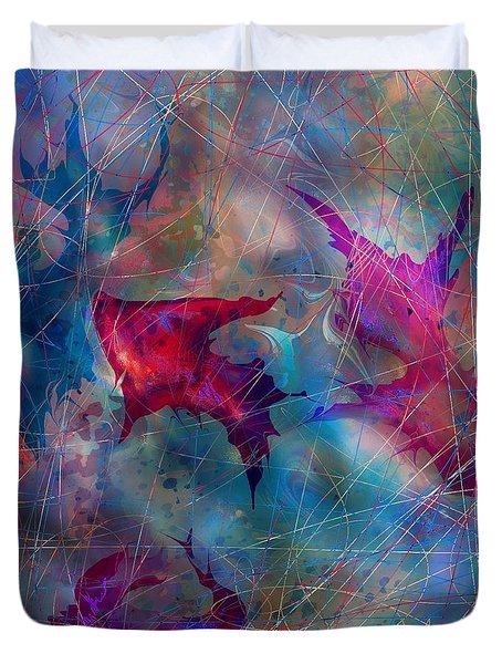 The Webs Of Life Duvet Cover by Rachel Christine Nowicki
