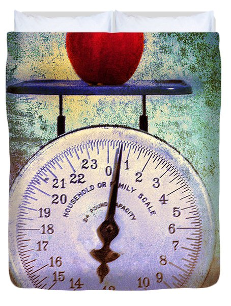 The Weight Of An Apple Duvet Cover by Tara Turner