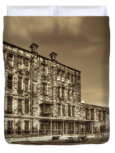 The West Virginia State Penitentiary Backside Duvet Cover by Dan Friend