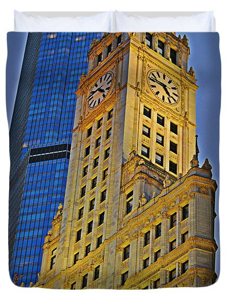 The Wrigley Building Duvet Cover by Mary Machare