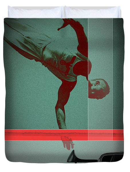 They Crossed That Line Duvet Cover by Naxart Studio