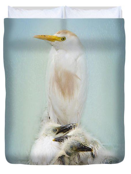 They Have My Nose Duvet Cover by Betty LaRue