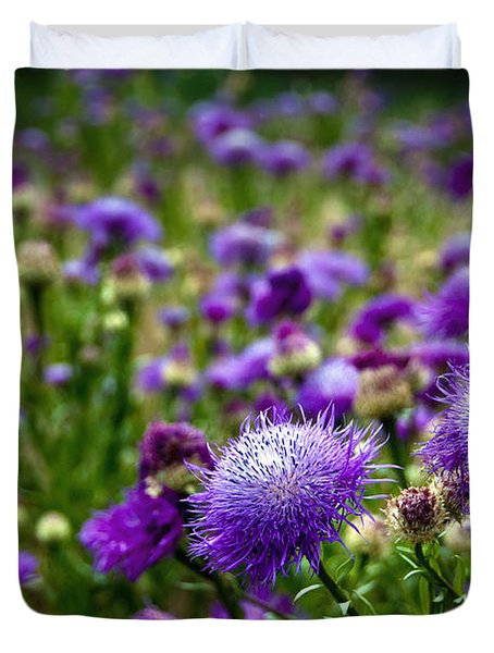 Thistle Field Duvet Cover by Tamyra Ayles