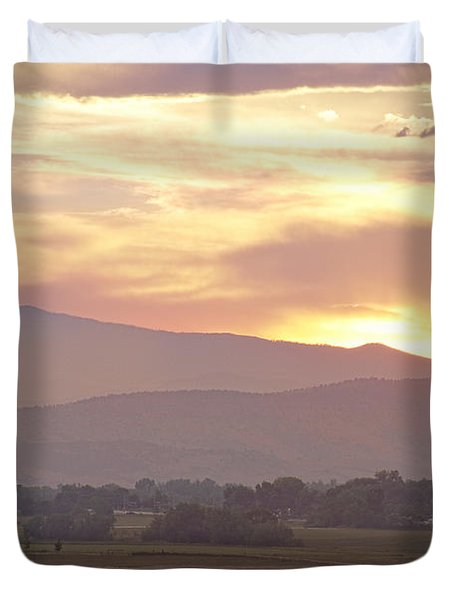 Three Belly Boats Golden Scenic View Duvet Cover by James BO  Insogna