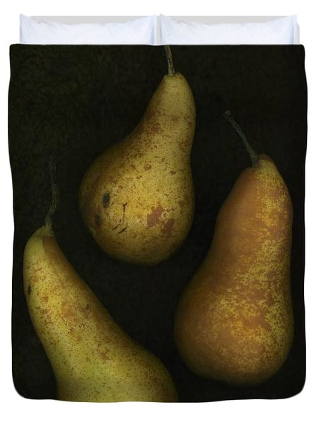 Three Golden Pears Duvet Cover by Deddeda