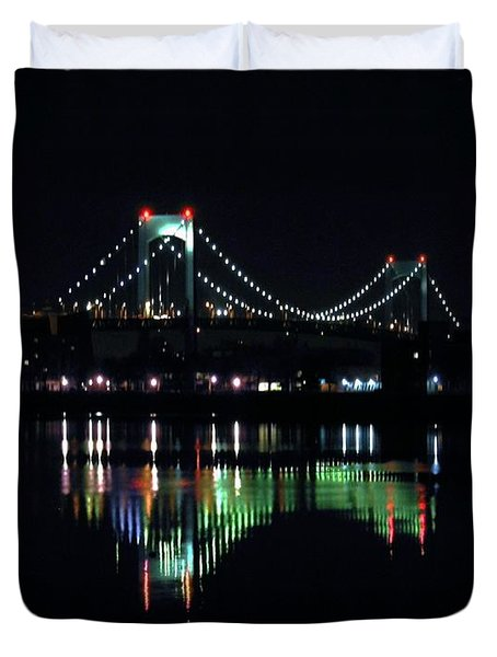 Throggs Neck Bridge Duvet Cover by Dale   Ford