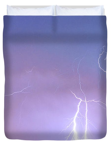 Thunderstorm on the Colorado Plains Panorama Duvet Cover by James BO  Insogna
