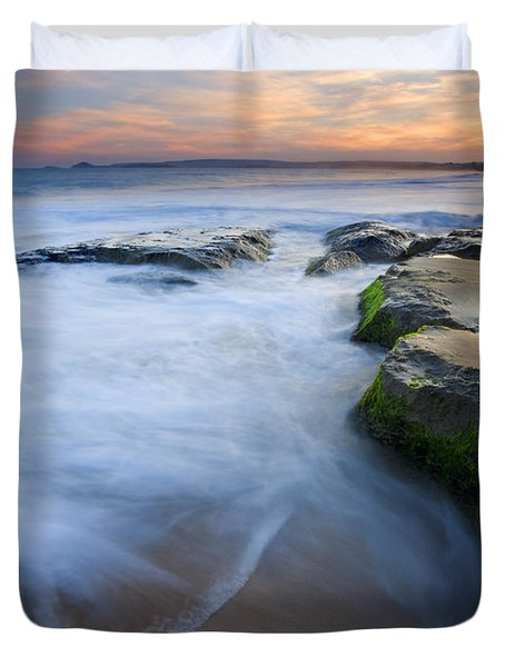 Tidal Bowl Duvet Cover by Mike  Dawson