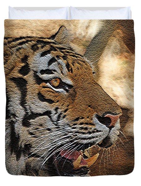 Tiger De Duvet Cover by Ernie Echols