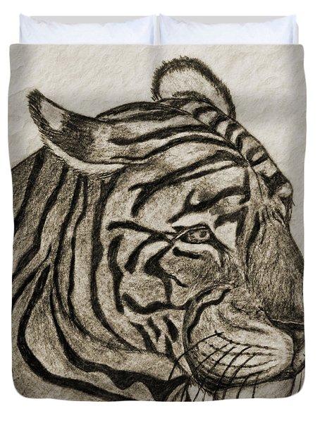 Tiger Iv Duvet Cover by Debbie Portwood