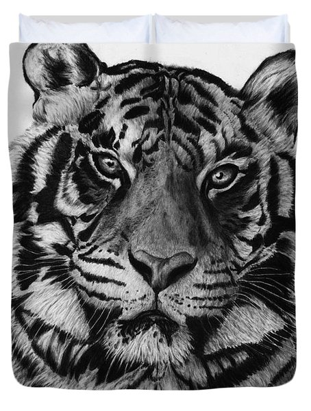 Tiger Duvet Cover by Jyvonne Inman