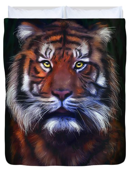 Tiger Tiger Duvet Cover by Michelle Wrighton