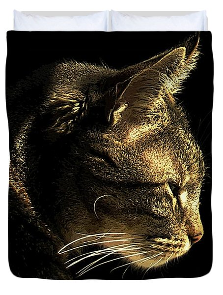 Tiger Within Duvet Cover by Dale   Ford