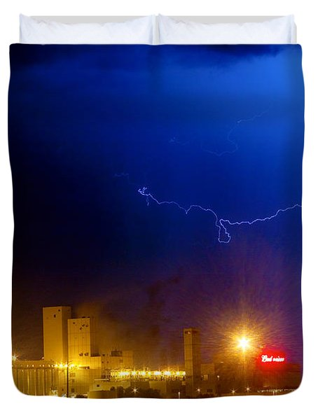 To The Right Budweiser Lightning Strike Duvet Cover by James BO  Insogna