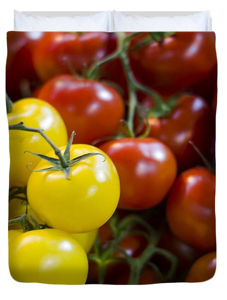 Tomatoes on the Vine Duvet Cover by Heather Applegate