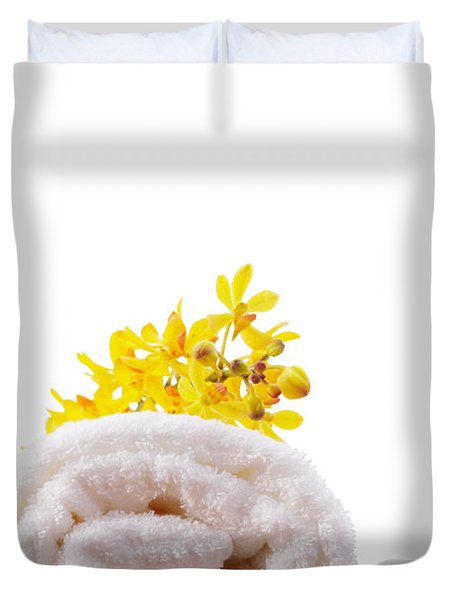 towel roll Duvet Cover by ATIKETTA SANGASAENG
