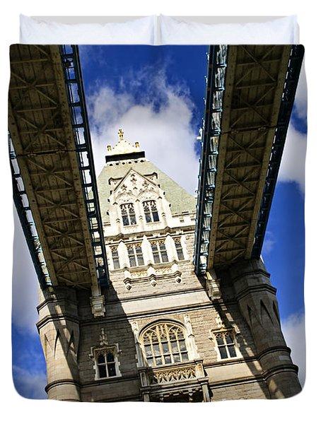 Tower Bridge In London Duvet Cover by Elena Elisseeva