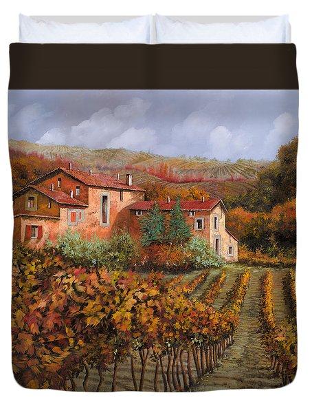 tra le vigne a Montalcino Duvet Cover by Guido Borelli
