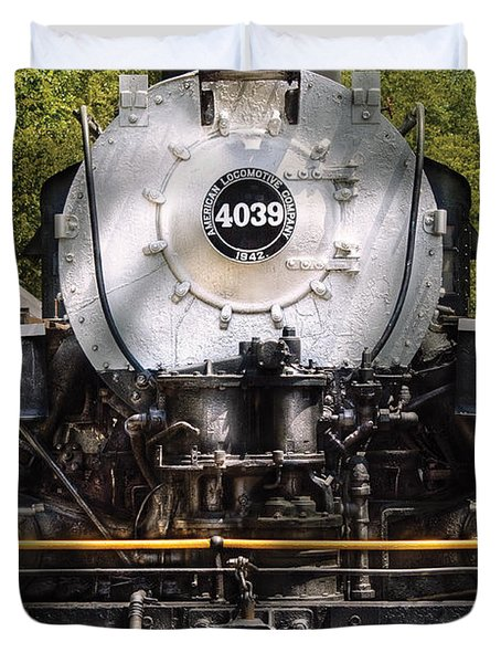 Train - Engine - 4039 American Locomotive Company  Duvet Cover by Mike Savad