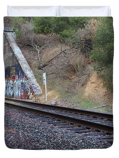 Train Tunnel At The Muir Trestle in Martinez California . 7D10228 Duvet Cover by Wingsdomain Art and Photography