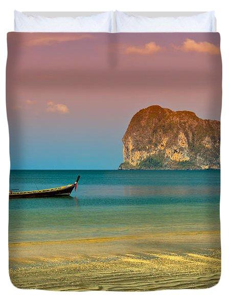 Trang Longboat Duvet Cover by Adrian Evans