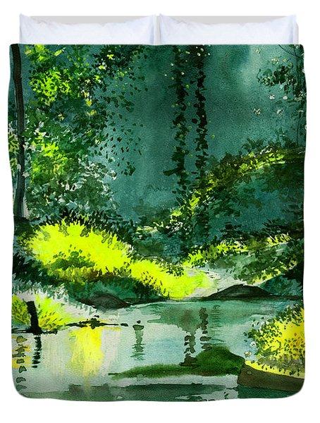 Tranquil 1 Duvet Cover by Anil Nene