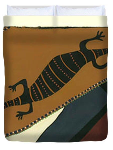 Traveling Goanna Duvet Cover by Pat Saunders-White