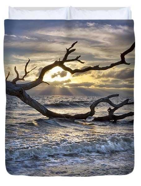 Treasures Of The Sea Duvet Cover by Debra and Dave Vanderlaan