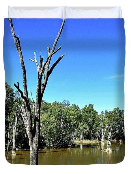 Tree Stumps in Beauty Duvet Cover by Kaye Menner