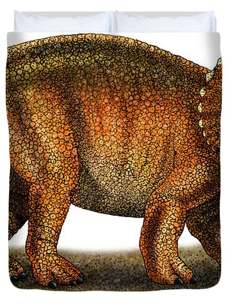Triceratops Duvet Cover by Roger Hall and Photo Researchers