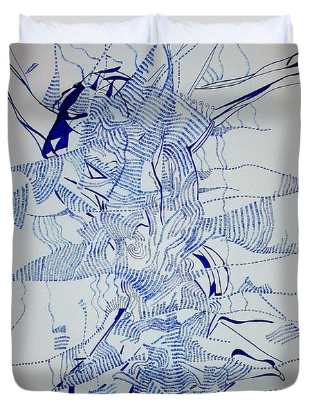 Triple Jump Duvet Cover by Gloria Ssali
