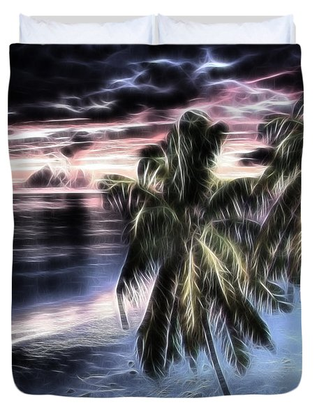 Tropical Evening Duvet Cover by Cheryl Young