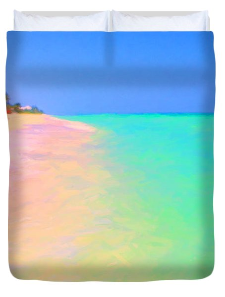 Tropical Island 7 - Painterly Duvet Cover by Wingsdomain Art and Photography