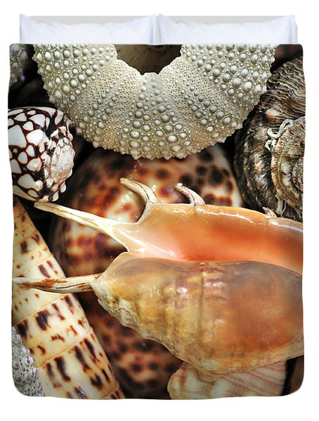Tropical Shells Duvet Cover by Kaye Menner