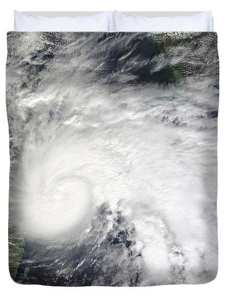 Tropical Storm Ida In The Caribbean Sea Duvet Cover by Stocktrek Images