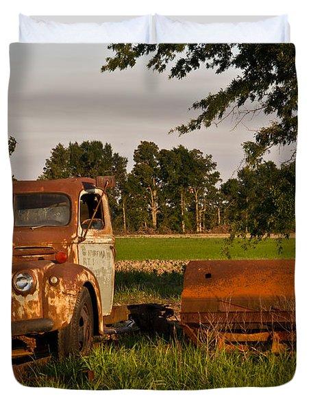 Truck And Tank 31 Duvet Cover by Douglas Barnett
