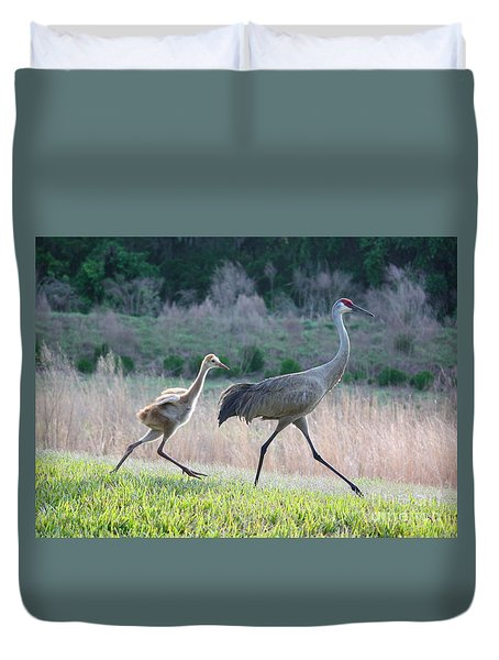 Trying To Keep Up Duvet Cover by Carol Groenen