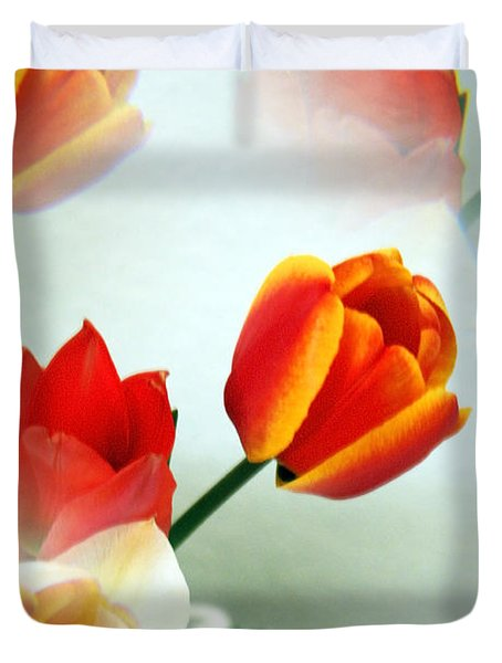 Tulip Abstract Duvet Cover by Marilyn Hunt