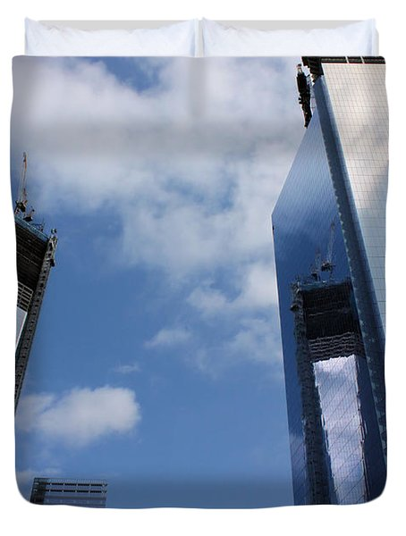 Twin Towers Duvet Cover by Kristin Elmquist