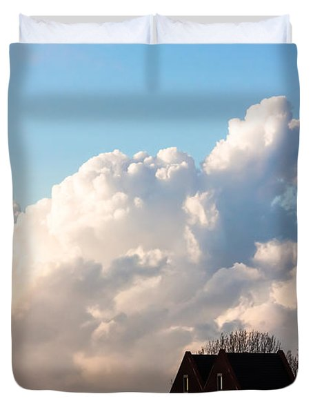 Two Houses One Cloud Duvet Cover by Semmick Photo