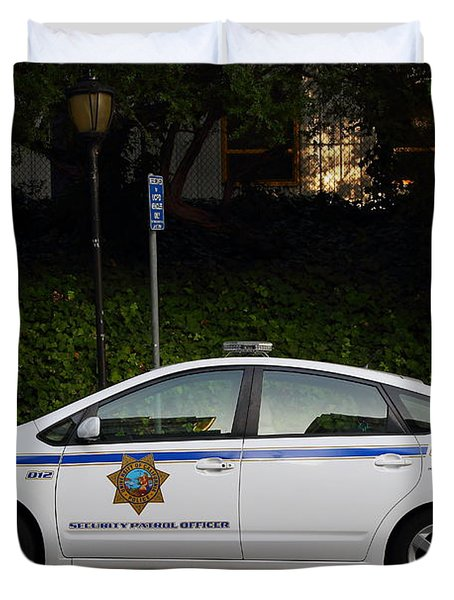 Uc Berkeley Campus Police Car  . 7d10181 Duvet Cover by Wingsdomain Art and Photography