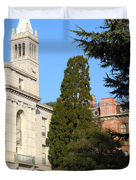 UC Berkeley . Sather Tower Campanile . Wheeler Hall . South Hall Built 1873 . 7D10040 Duvet Cover by Wingsdomain Art and Photography